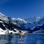 Outdoor pool at The Cambrian Adelboden