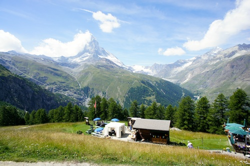 Matterhorn viewed from Riffelalp Resort