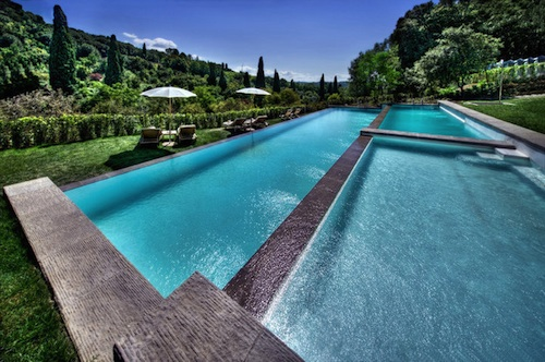 swimming pool at il salviatino florence